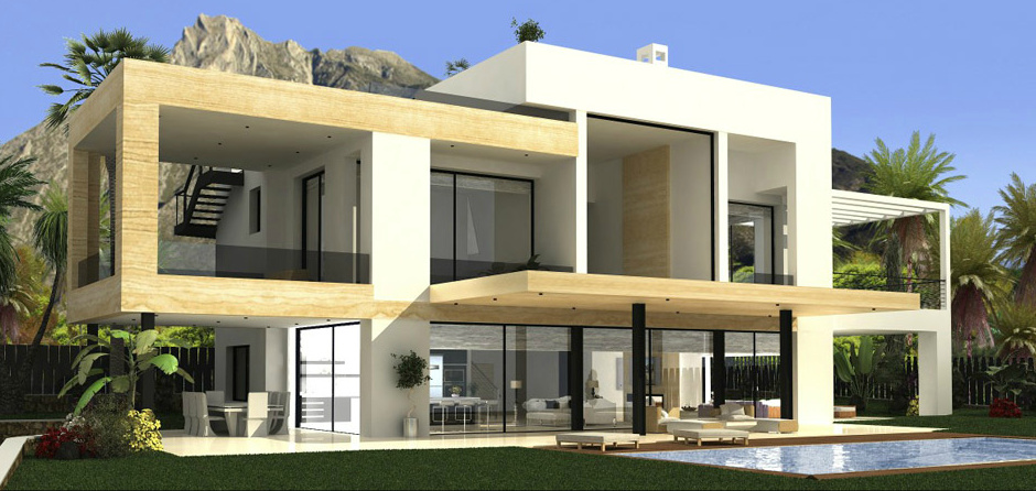 MV34132 - Contemporary Villa in Golden Mile Marbella Spain - 2.300.000€