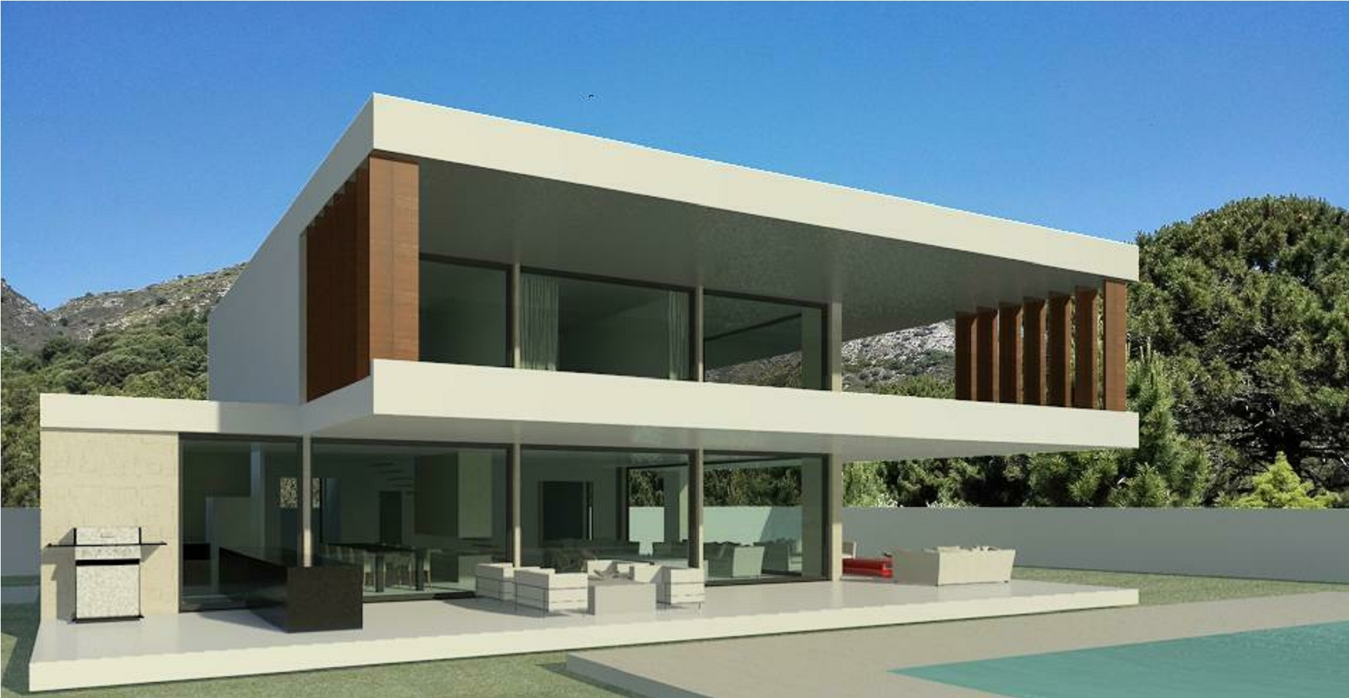 Brazilian architecture Spain: modern new build villas on turnkey construction basis