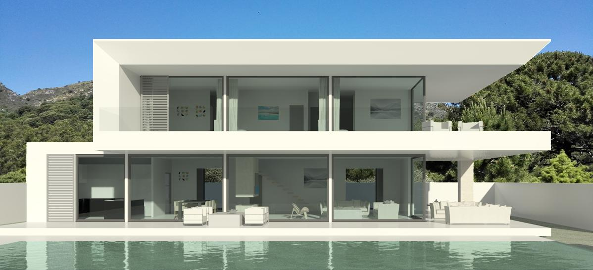 Modern turnkey villas in spain france portugal for Contemporary villa plans