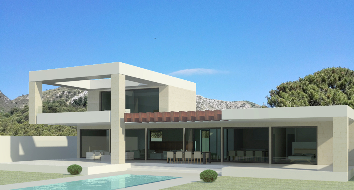 contemporary villa in Mijas Costa Del Sol Spain