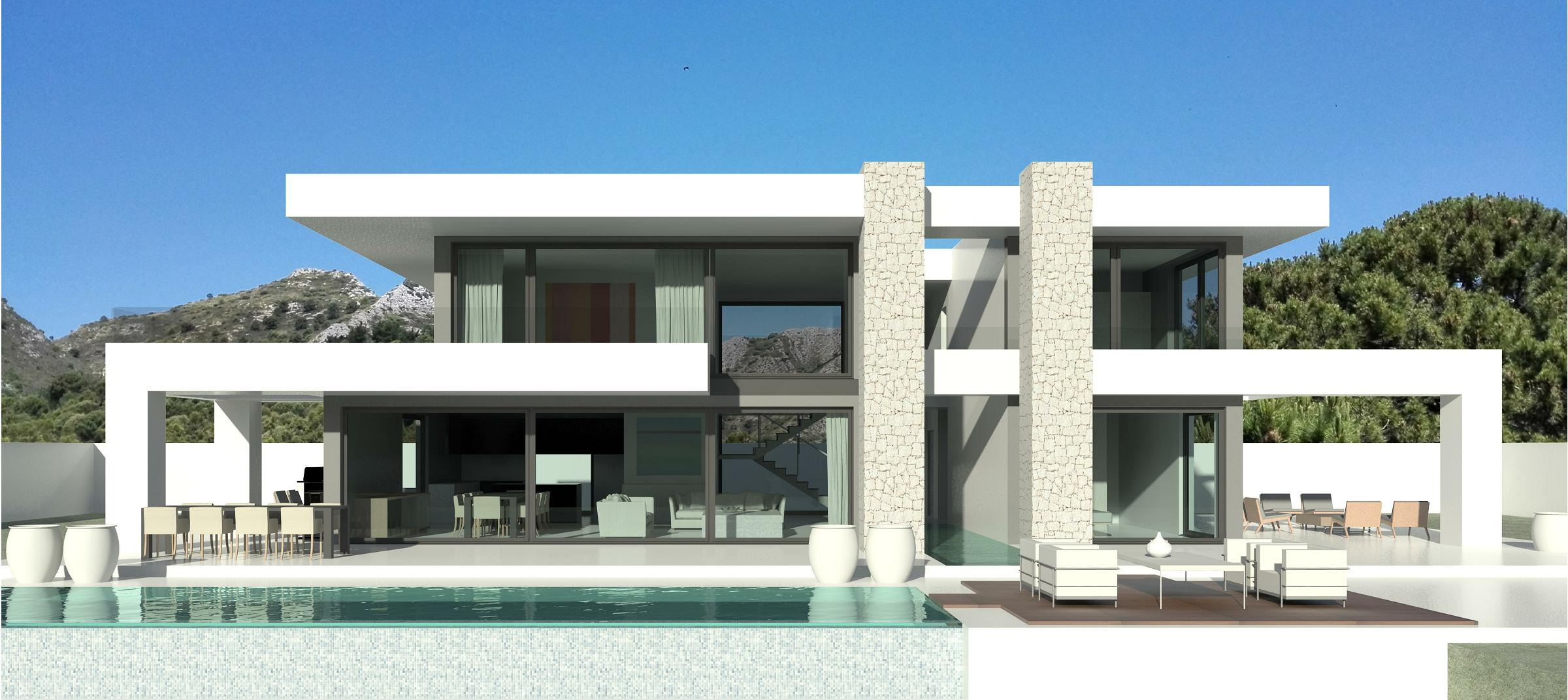 Villas modernes maisons contemporaines immobilier de luxe for Petite villa design