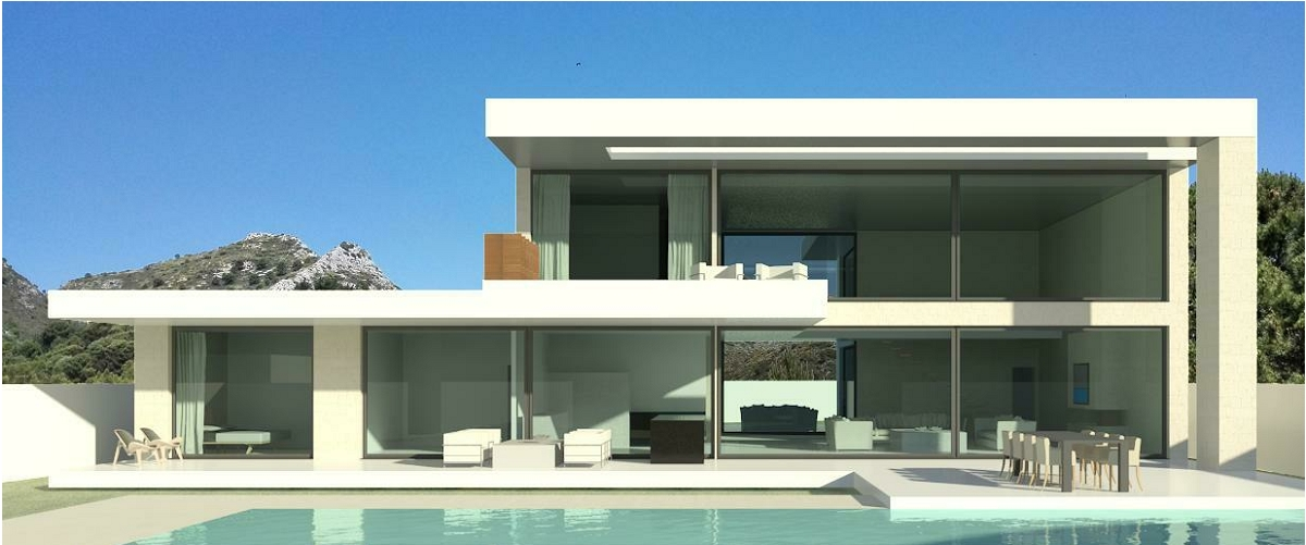 Modern turnkey villas in spain france portugal for Modern minimalist villa