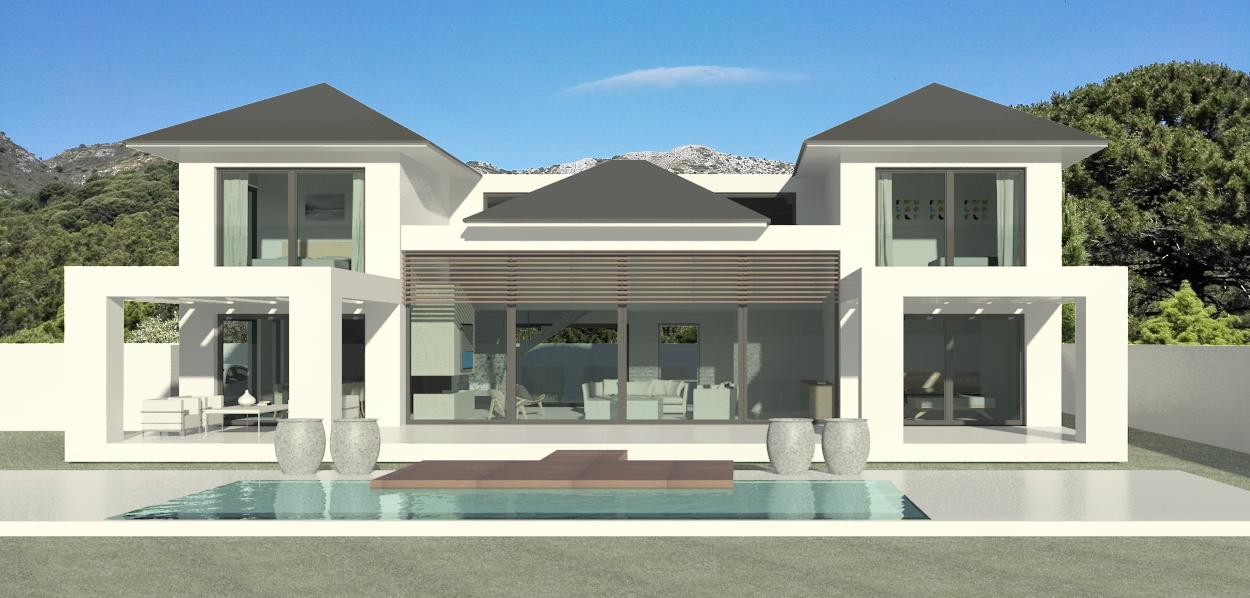 contemporary but traditional turnkey villa in Los Arqueros, Benahavis, Marbella